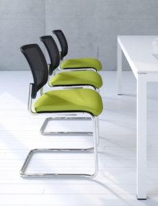Gaya / Chaise de réunion Piètement luge mdd (ref. 12842i)