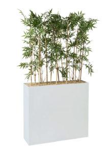 Bambou / Plantes artificielles + Jardinière H144 cm Genexco (ref. 13127i)
