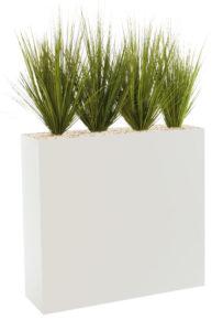 Graminées / Plantes artificielles + Jardinière H129 cm Genexco (ref. 13139i)