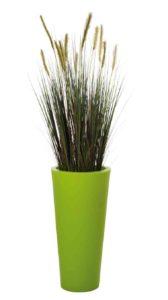 Herbes des dunes / Plante artificielle H180 cm Bac rond vert Genexco (ref. 13147)