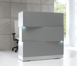 Zen / Comptoir d'accueil avec tiroir L114 cm mdd (ref. 13154i)