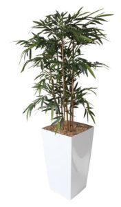 Bambou / Plante artificielle H190 cm Bac carré Genexco (ref. 13171i)