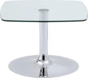 Daphné / Table basse 60 x 60 cm verre transparent Genexco (ref. 13208)