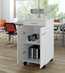 Multioffice / Meuble multimédia Blanc mdd (ref. 13401)
