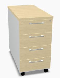 Ogi pro / Caisson Fixe haut 4 tiroirs H74 cm hêtre (ref. 13471)