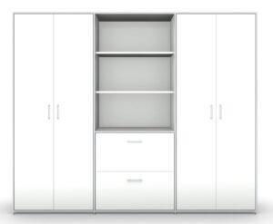 Modul space / Armoire Haute triple avec rangement central L237 x H196 cm Bosse (ref. 13494i)