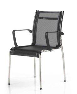 Elliot / Chaise 4 pieds résille Noir MBDesign (ref. 13528)