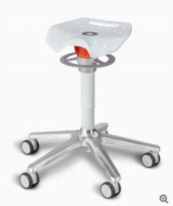 Ongo Roll / Tabouret sur roulettes avec selle Ongo (ref. 13675i)