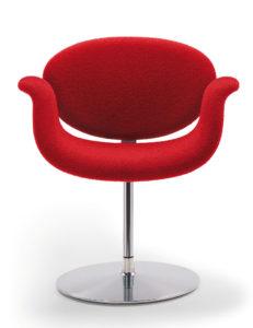 Little Tulip / Fauteuil design pied rond tissu Artifort (ref. 13690i)