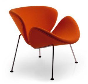 Orange Slice / Fauteuil design 4 pieds tissu Artifort (ref. 13692i)