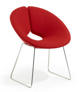 Little Apollo / Fauteuil design piètement luge Rouge Artifort (ref. 13700)