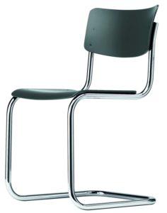 S 43 Thonet / Chaise design hêtre teinté Noir Thonet (ref. 13772)