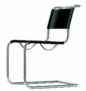 S 33 Pure materials / Chaise design Thonet cuir sellier Noir Thonet (ref. 13775)