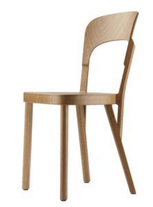 Thonet 107 / Chaise 4 pieds hêtre naturel Thonet (ref. 13793)