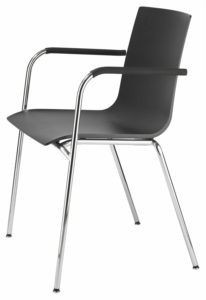 S 160 F / Chaise 4 pieds avec accoudoirs Thonet Anthracite Thonet (ref. 13832)