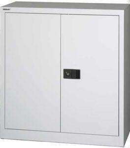 Bisley / Armoire Basse portes battantes H100 x L92 cm Gris Bisley (ref. 13880)