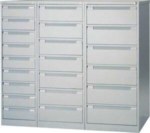 Bisley / Armoire multifonctions 9 tiroirs H132 x L41 cm Gris Bisley (ref. 13882)