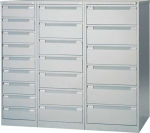 Bisley / Armoire multifonctions 7 tiroirs H132 x L52 cm Gris Bisley (ref. 13883)