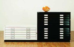 Armoire à plans format A0 / section intermédiaire 5 tiroirs sans top ni socle Bisley (ref. 13890i)