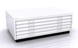 Armoire à plan format A1 / 5 tiroirs avec top et socle Bisley (ref. 13904i)