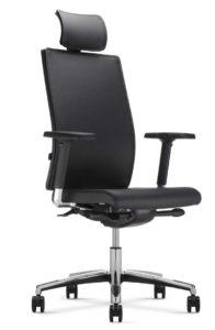 Executive / Fauteuil de direction avec appuie-tête en cuir MBDesign (ref. 14009)