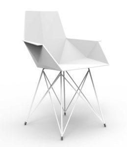 Faz / Chaise design pied inox Vondom (ref. 14115i)