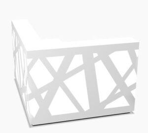 Zig-Zag / Banque d'accueil avec retour L188 x P160 cm decor Led mdd (ref. 14184)