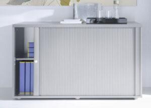 Mdd standard / Armoire moyenne à rideaux L160 x H113 cm (ref. 14255i)