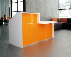 Wave / Banque d'accueil avec PMR L178 cm Orange mdd (ref. 14276)