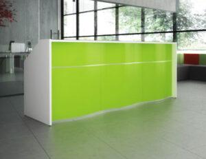 Wave / Banque d'accueil L275 cm Vert mdd (ref. 14277)