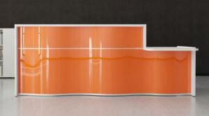 Wave / Banque d'accueil avec PMR L297 cm orange mdd (ref. 14281)
