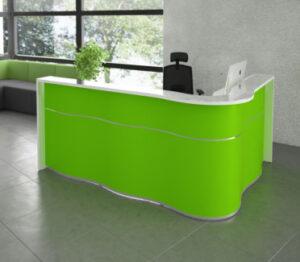 Wave / Banque d'accueil en angle L278 x P179 cm vert mdd (ref. 14282)
