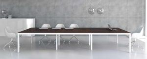 Impuls / Table de réunion rectangulaire 360 x 140 cm + 3 Top access mdd (ref. 14288i)
