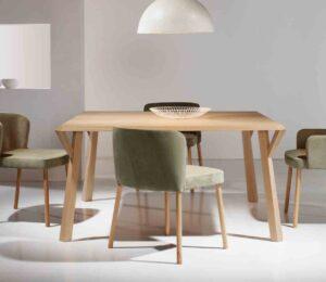Sank / Table Carrée L150 cm Hêtre Ziru (ref. 14293)