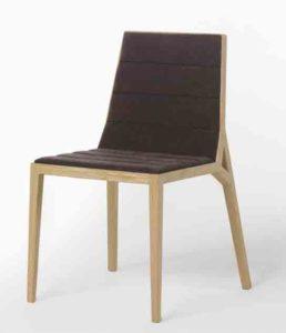 Drey / Chaise en hêtre sans accoudoirs assise anthracite Ziru (ref. 14299)