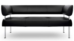 Business Class / Canapé 3 places L160 cm cuir Noir Sitland (ref. 14402)