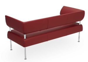 Business Class / Canapé 3 places L160 cm cuir Rouge Sitland (ref. 14404)