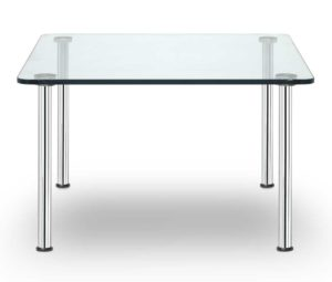 Business Class / Table basse carrée verre transparent 68 x 68 cm Sitland (ref. 14405)