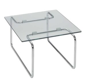 Path / Table basse verre transparent 70 x 60 cm Sitland (ref. 14407)