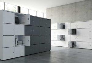 Locker / Armoire 4 casiers H161 cm coloris personnalisables mdd (ref. 14435)