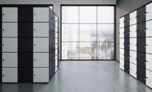 Locker / Armoire 5 casiers H201 cm coloris personnalisables mdd (ref. 14436)