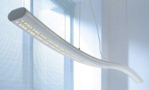 Snake / Suspension à LED L200 cm - Blanc mdd (ref. 14445)