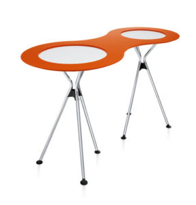Meet table over easy / Tables hautes pliantes double + plateau de liaison Sedus (ref. 14474)