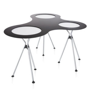 Meet table over easy / Tables hautes pliantes double + plateau de liaison Sedus (ref. 14475)