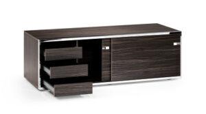 Sedus relations / Lowboard portes coulissantes L120 cm + 3 tiroirs Ebène Sedus (ref. 14488)