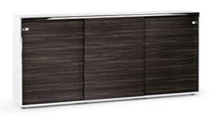 Sedus relations / Armoire portes coulissantes L240 x H148 cm Ebène Sedus (ref. 14489)