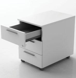 Be.1 / Caisson à roulettes 3 tiroirs Blanc Frezza (ref. 14648)