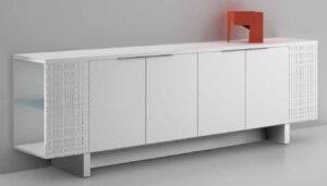 Modi / Armoire basse L270 cm Blanc Ultom (ref. 14656)