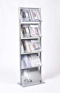 Top / Porte-revues vertical large H170 x L57 cm Aluminium D-TEC (ref. 14796)
