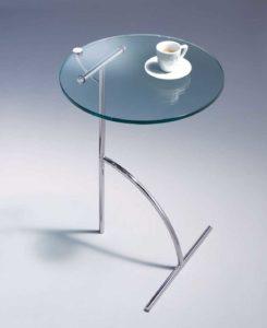 Teatime / Table d'appoint Ø40 cm verre transparent D-TEC (ref. 14798)